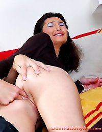 Hot in the tail girl wakes up her boy and undergoes raw anal abuse